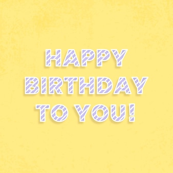 Joyeux anniversaire à toi carte de voeux