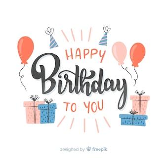 Joyeux anniversaire à toi lettrage