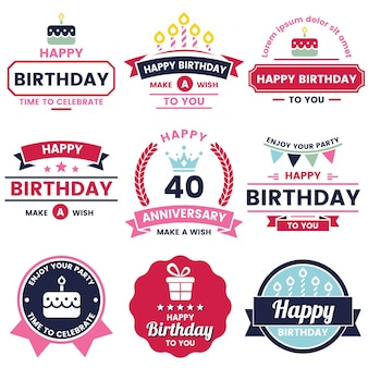 Joyeux anniversaire vector logo pour bannière