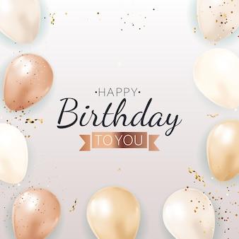 Joyeux anniversaire à votre carte