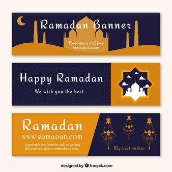 Joyeux bannière ramadan