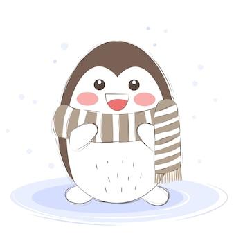 Joyeux bébé pingouin pour l'art de la pépinière