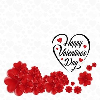 Joyeux cadre de fleur de la Saint-Valentin