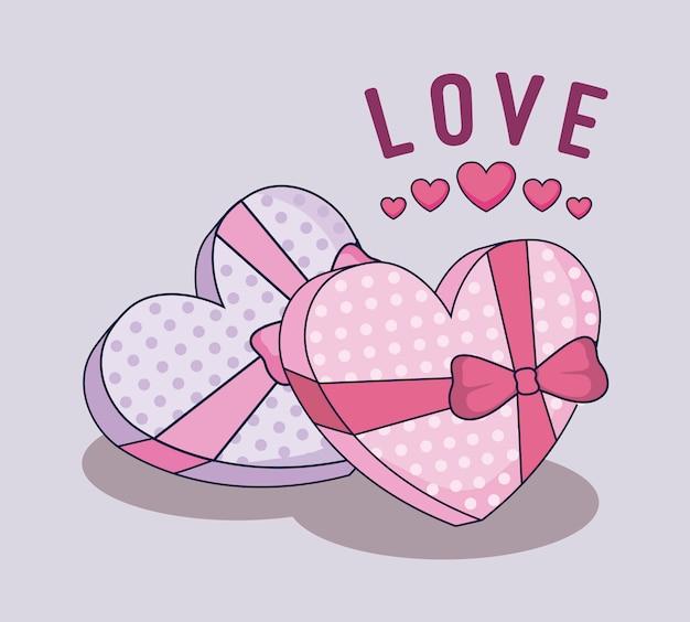 Joyeux coffrets cadeaux saint valentin