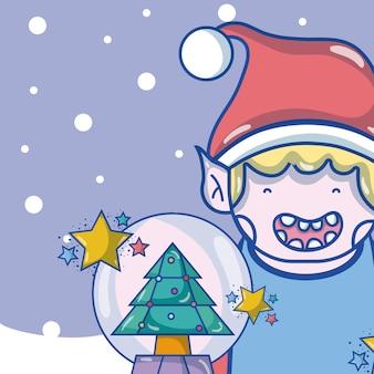 Joyeux dessins animés de Noël