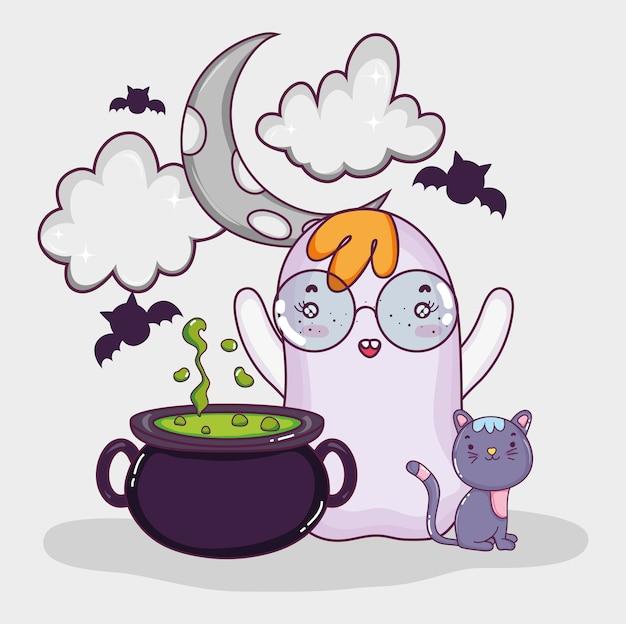 Joyeux dessins animés d'halloween