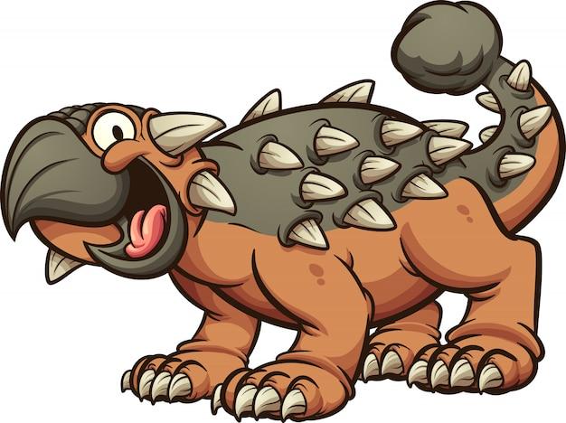 Joyeux dinosaure ankylosaurus