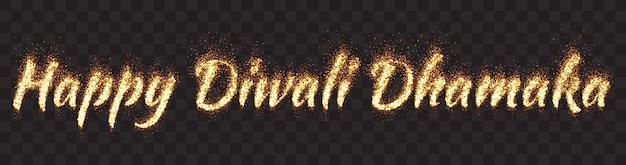 Joyeux diwali dhamaka text banner