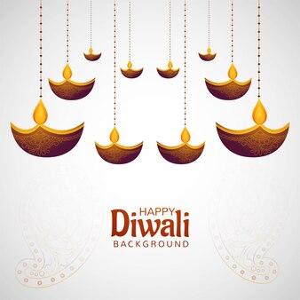 Joyeux diwali diya festival hindou des lumières fond de carte
