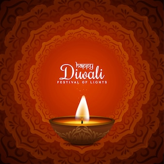Joyeux diwali élégant fond religieux rouge mandala