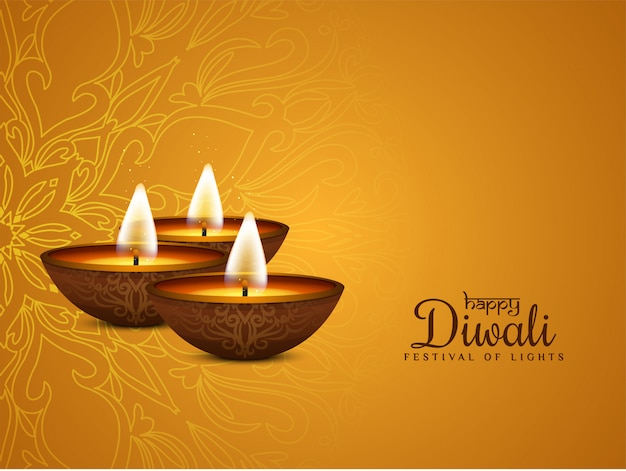 Joyeux diwali élégant religieux artistique