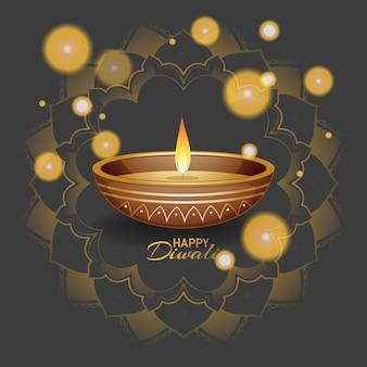 Joyeux diwali festival carte de voeux