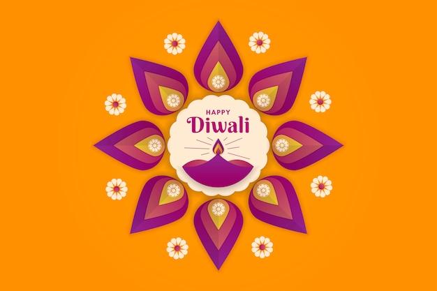 Joyeux diwali festival de fond de lumières