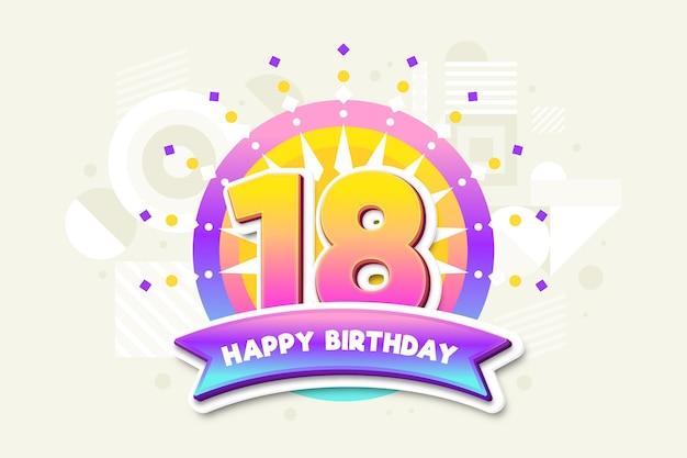 Joyeux dix-huitième anniversaire fond d'écran