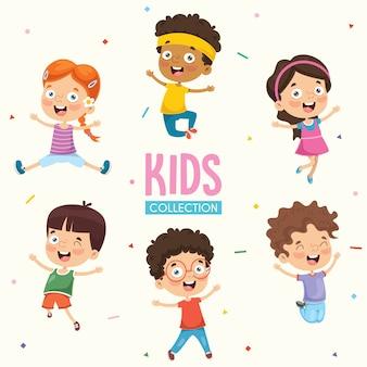 Joyeux enfants jouant