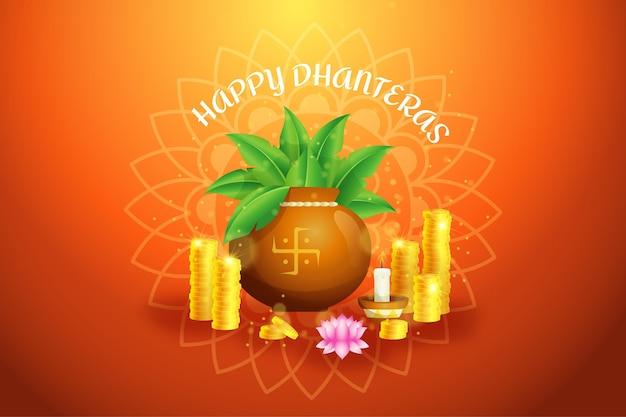 Joyeux événement traditionnel akshaya tritiya tas de pièces