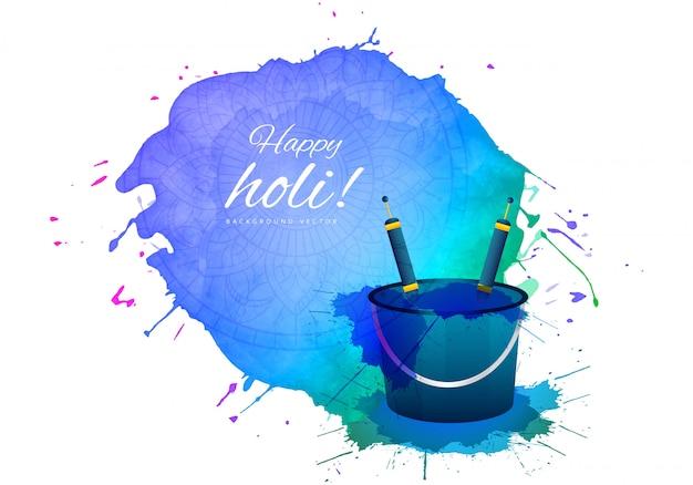 Joyeux festival de printemps indien holi de voeux de couleurs