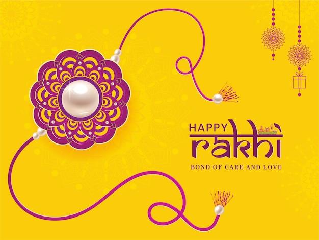 Joyeux festival rakhi du concept vectoriel des frères et sœurs.