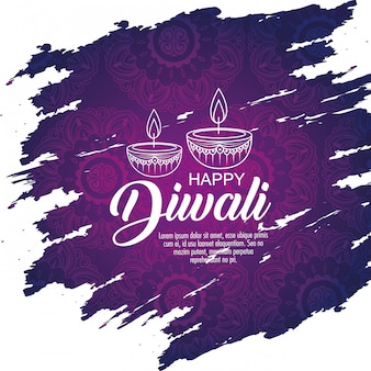Joyeux fond de diwali