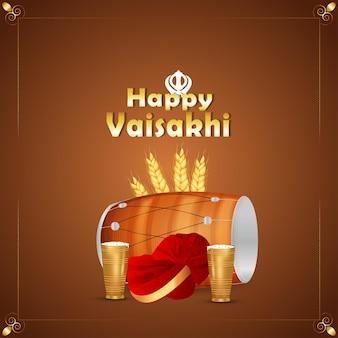 Joyeux fond de festival sikh indien vaisakhi