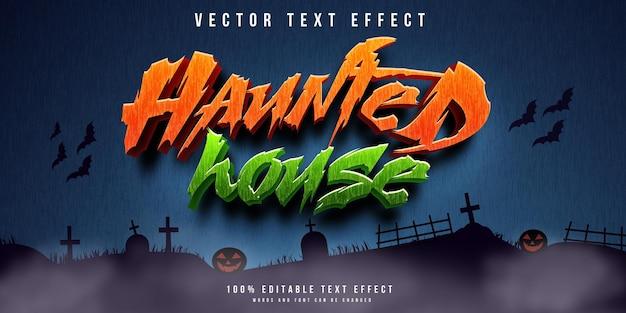 Joyeux fond d'halloween avec effet de texte 3d