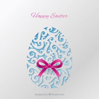 Joyeux fond de jour de pâques dans le style de papier