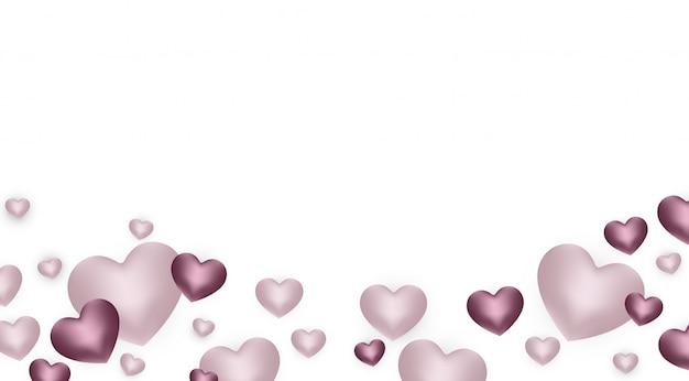 Joyeux fond de saint-valentin avec coeur et composition actuelle pour une bannière à la mode