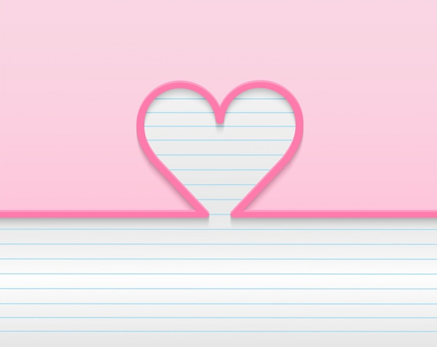 Joyeux fond de saint valentin. concevoir avec coeur. . fond rose. .