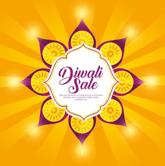 Joyeux fond de vente de diwali