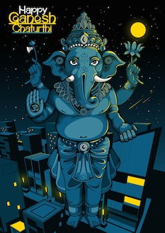 Joyeux ganesh chaturthi de l'inde pour la fête traditionnelle hindoue.
