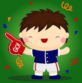 Joyeux garçon de baseball