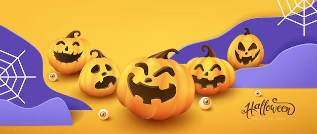 Joyeux halloween bannière ou fond d'invitation à une fête