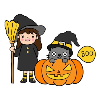 Joyeux halloween avec chat noir