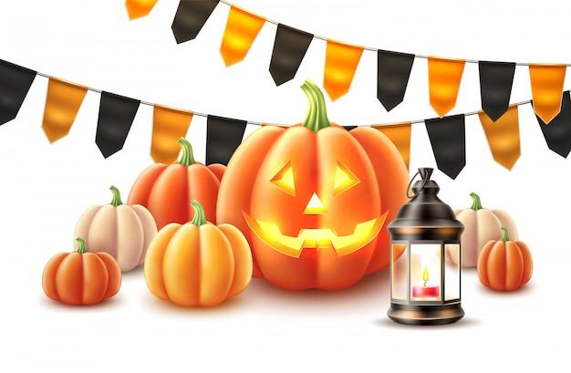 Joyeux halloween citrouille jack lanternes gourde