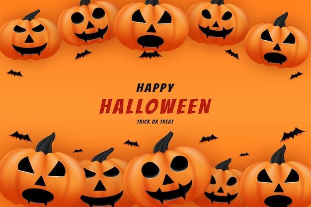 Joyeux halloween avec des citrouilles décorant le bas et le haut