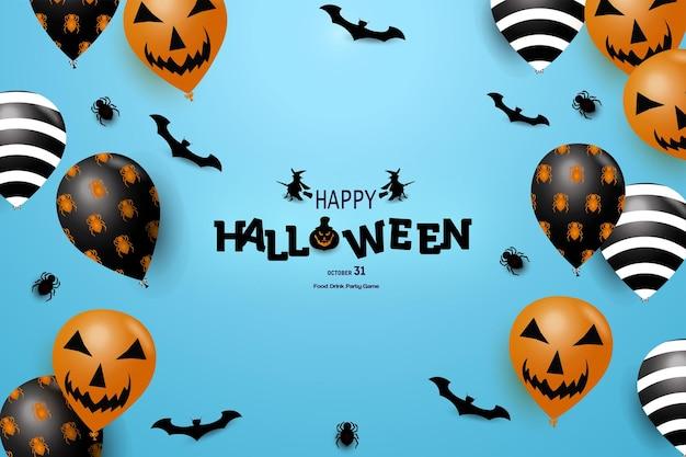 Joyeux halloween avec une décoration de sorcière sur le côté de l'écriture