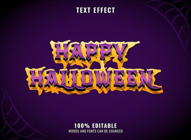 Joyeux halloween effrayant effet de texte modifiable sombre
