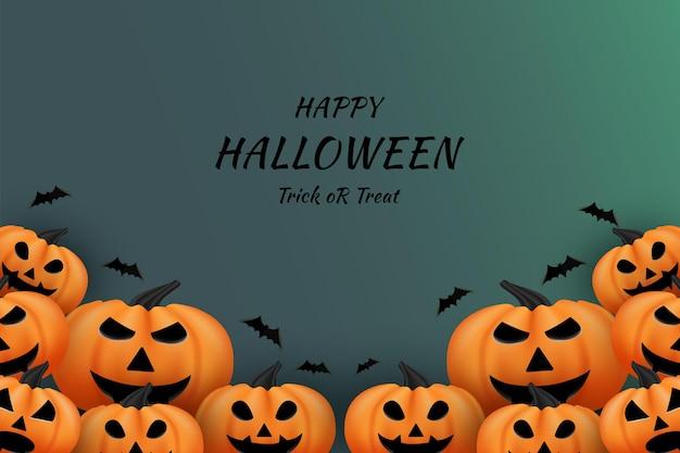 Joyeux halloween avec un fond de couleur sombre