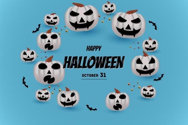 Joyeux halloween avec inscription rougeoyante