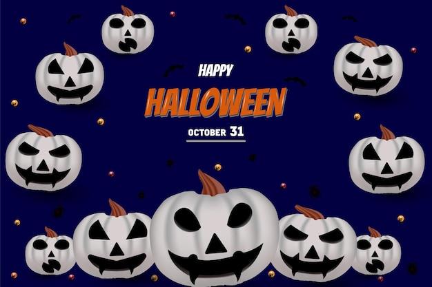 Joyeux halloween avec lettrage artistique de couleur orange