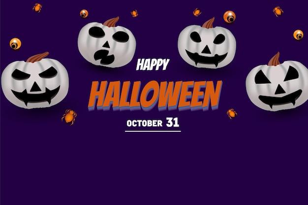 Joyeux halloween avec lettrage de couleur orange 3d