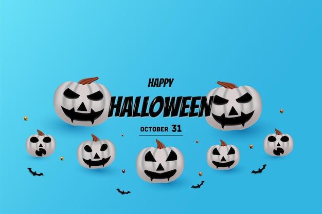 Joyeux halloween avec lettrage noir 3d