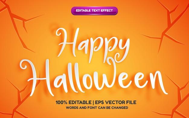Joyeux halloween papier découpé effet de texte modifiable en 3d