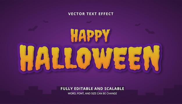 Joyeux halloween text effect vecteur amusant pour les voeux, les titres, les fêtes de fin d'année