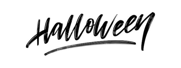 Joyeux halloween texte bannière lettrage vacances offre spéciale acheter maintenant