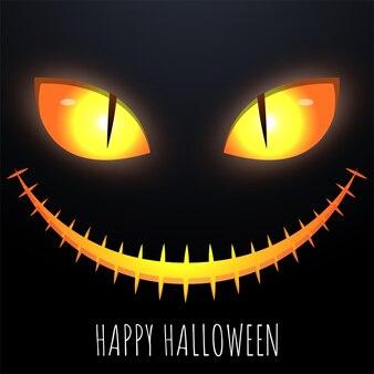 Joyeux halloween avec un visage effrayant