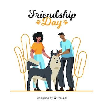 Joyeux jour de l'amitié dessiné à la main