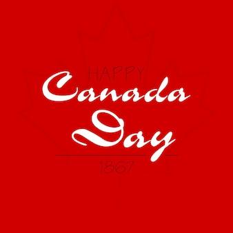 Joyeux jour du canada. illustration vectorielle typographique