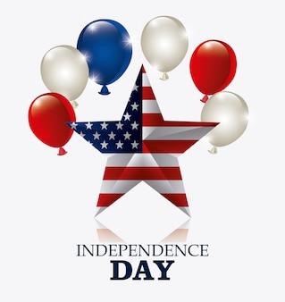 Joyeux jour de l'indépendance, 4 juillet, usa design