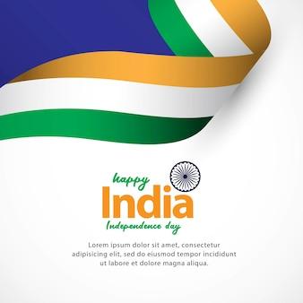 Joyeux jour de l'indépendance de l'inde et célébrations du jour de la république